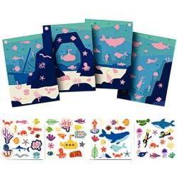 Déstockage - Lot de 10 protège-cahiers 17x22cm violet