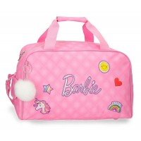 Sac de sport voyage 1 compartiment rose 45cm Barbie Fashion