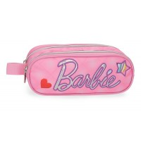 Trousse rectangulaire 2 compartiments rose 23cm Barbie Fashion