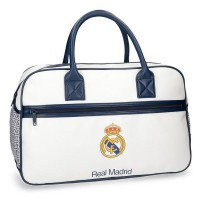 Sac de sport voyage 1 compartiment blanc 49cm Real de Madrid