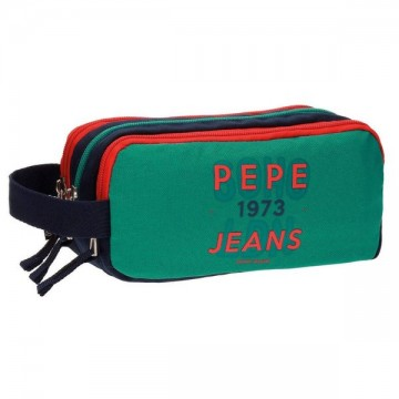 13d0c6c196c Trousse rectangulaire 3 compartiments 22cm Pepe Jeans Reed pas chère