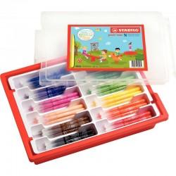 Cahier polypro 17X22 60P piqure seyes bleu
