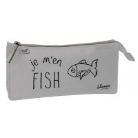Trousse rectangulaire 1 compartiment Shaman Je m'en Fish 23cm
