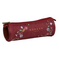 Trousse ronde 1 compartiment Morgan Touch of Flowers 22cm