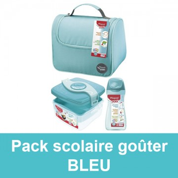 Pack scolaire goûter turquoise Maped