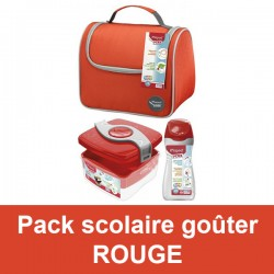 Pack scolaire goûter rouge Maped