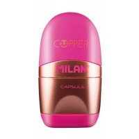 Taille-crayons + gomme Capsule Cooper rose Milan
