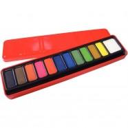 Support plastique bleu pour pinceaux 49 cases Milan