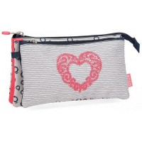 Trousse rectangulaire 2 compartiments 22cm Enso Heart