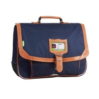 Cartable Tann's 2 compartiments bleu Oslo 38cm