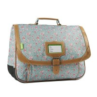 Cartable Tann's 2 compartiments vert Edimbourg 38cm
