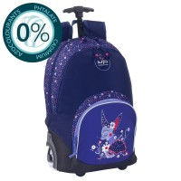 Sac à dos à roulettes 2 compartiments 44cm Fox Purple Bodypack