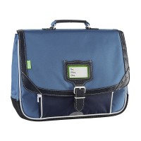 Cartable Tann's 2 compartiments Bleu de Prusse 38cm