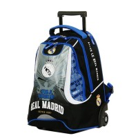 Sac à dos à roulettes 43cm 2 compartiments Real de Madrid