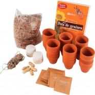 Socle éphéméride bois anneaux en métal JPC