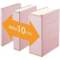 Classeur archive Zero Max A4 dos réglable rose Plus Japan
