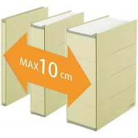 Classeur archive Zero Max A4 dos réglable beige Plus Japan