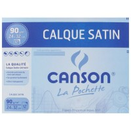 Pochette 12 feuilles papier calque 90 grs 24X32 cm CANSON