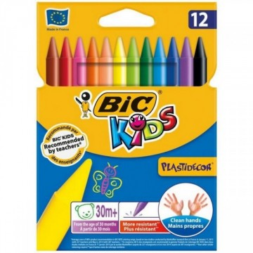 Etui de 12 crayons Plastidecor assortis BIC