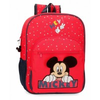 Sac à dos Mickey 1 compartiment 38cm rouge Happy 2532361