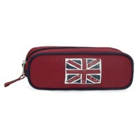 Trousse scolaire Pepe Jeans 1 compartiment 22cm Andy rouge 6154021
