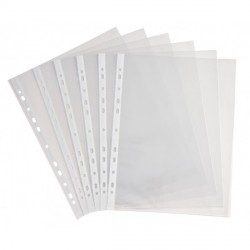 Sachet de 100 pochettes perforées A4