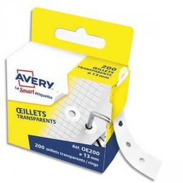 Boite distributrice 200 œillets transparents 13 mm AVERY