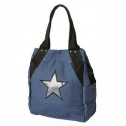 Sac cabas vertical bleu 1 compartiment