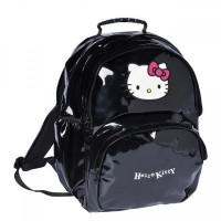 Sac à dos Hello Kitty noir 2 compartiments 45 cm
